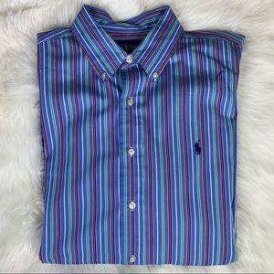 Ralph Lauren XL Stripe Classic Button Down Oxford